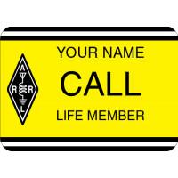 Large ARRL Life Member Badge