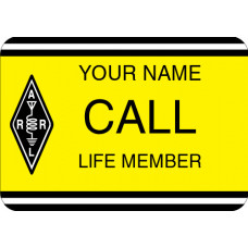Large ARRL Life Member Badge