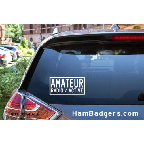 "Decal: ""Amateur Radio / Active"" Rectangle"