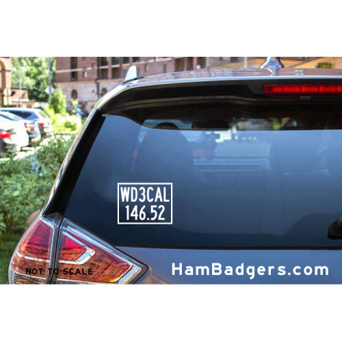 Decal: Custom Call Sign & Frequency Rectangle