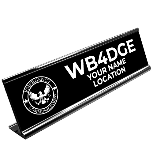 Large Customized Call Sign Desk Plate