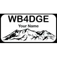 Medium Utah Mountains Badge