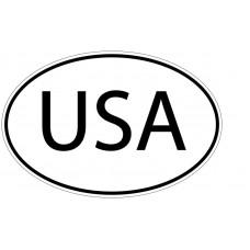 USA Oval Vinyl Decal