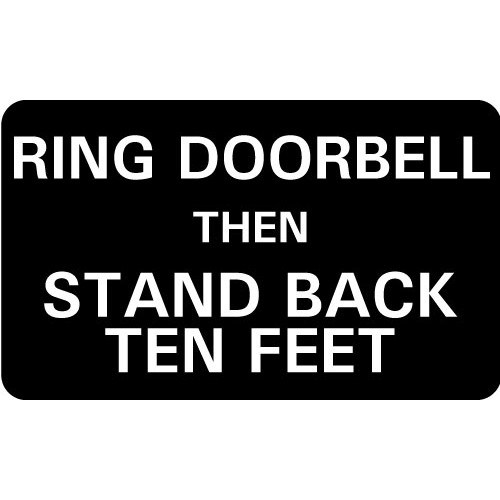 Social Distancing Doorbell Sign