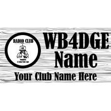 Medium Wood Grain Badge