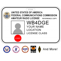 Printed Amateur Radio Badge w/ Photo