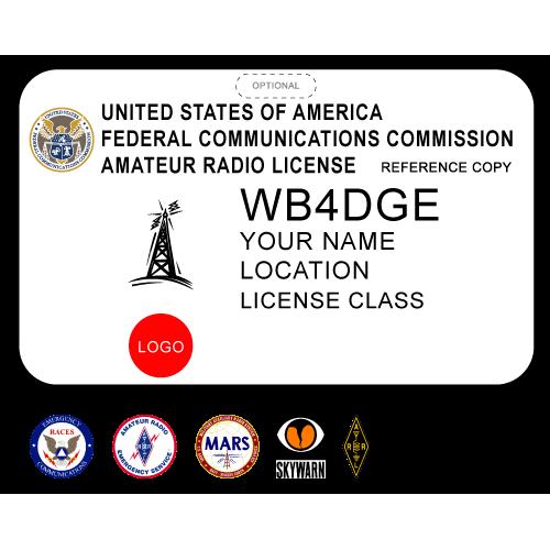 Printed Amateur Radio Badge w/ Tower